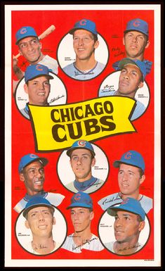 Chicago cubs 1969 Topps TEAM POSTERS - I loved this team