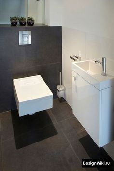 60 Best Ideas For Bathroom Shower Tile White Toilets Small Toilet Room, Guest Toilet, Downstairs Toilet, White Bathroom, Bathroom Interior, Modern Bathroom, Modern Sink, Stone Bathroom, White Shower