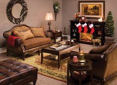 Cozy living room. We can re-create this room for you at Phillips Furniture.