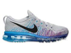 quality design 7651a 759c2 Officiel Nike Flyknit Air Max Chaussures Nike Pas Cher Pour Homme Noir  Gris Violet