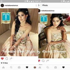 WEBSTA @ turquoise_by_rachit - Bride Akshita looks ravishing in our beautiful peach gown by #turquoiseuberstyles #RachitKhanna @rachit_khannaa Make up by Mehak Kawatra. Thanks @mehakkawatramua for tagging us.  #bridalstyle #bridalwear #indianwear #indianwedding #fashiondesigner #makeup #makeupartist #ludhiana #chandigarh