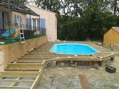 risultati immagini per comment construire une terrasse autour dune piscine hors sol