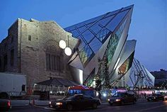 Royal Ontario Museum's new Michael Lee-Chin Crystal extension designed by Daniel Libeskind in Toronto.