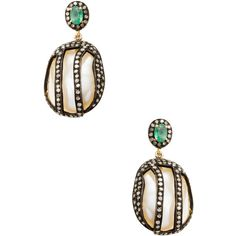 Amrapali Diamond & Pearl Drop Earrings ($1,200) ❤ liked on Polyvore featuring jewelry, earrings, no color, white pearl earrings, long drop earrings, drop earrings, long earrings and pearl jewelry