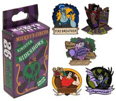 Disney Villains Mystery Pin Set Available at the Mickey's Circus Trading Event at Epcot in September