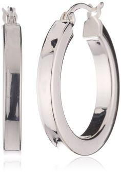 VINANI brand Germany 925 Sterling Silver Hoop Earrings Classic shiny CFC:Amazon:Jewelry