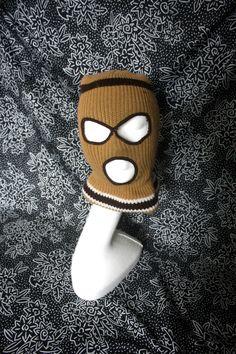 ab59e5fb634 Vintage Ski Mask Winter Hat Face Mask. Stylish Retro 70s or 80s Knit Creepy Ski  Mask. Brown Creepy Ski Sex Mask. Super Cute.