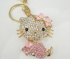 I bought four Hello Kitty Swarovski crystal key chains on EBay for $5-$7 each.  I'll use two as gifts; one on my luggage and one as a key chain.  These were very expensive retail so I was very happy with my bargain price.