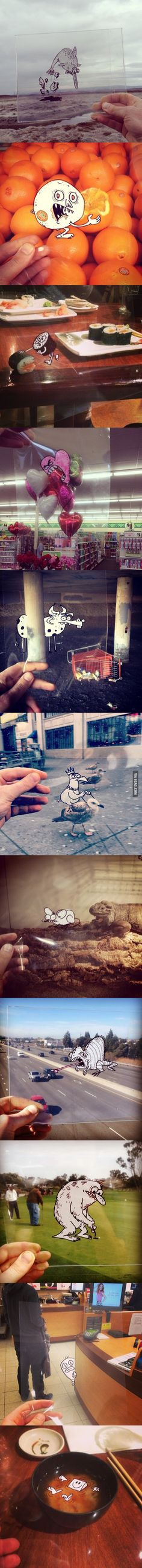 Cartoon Doodles in real life
