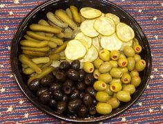 Relish Tray~ This one is a little large, but you get the idea. :)