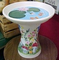 Reindeer Clay Pot Craft   Clay pot birdbath