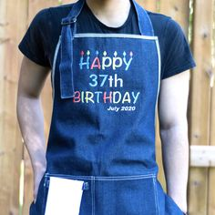 Celebrate your friends and family's birthday with our awesome personalized aprons! All our aprons are handmade with premium materials to ensure durability and comfort. They are an essential gift for anyone who enjoys to bake, cook, or grill! Embroidered Apron, Personalized Aprons, Bbq Apron, Family Birthdays, Kitchen Aprons, Long Ties, Barista, Etsy Handmade, Collaboration