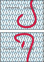 How to Duplicate Stitch - Knitting Techniques Intarsia Knitting, Knitting Stiches, Knitting Charts, Knitting Needles, Baby Knitting, Knitting Patterns, Crochet Patterns, Crochet Bunny, Knit Crochet
