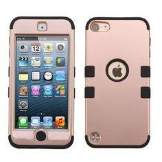 MYBAT TUFF Hybrid Apple iPod Touch 5G / 6G Case - Rose Gold/Black