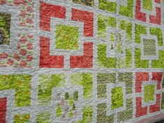 Garden Fences Quilt--The pattern I used for Mindy's quilt but done in different colors.