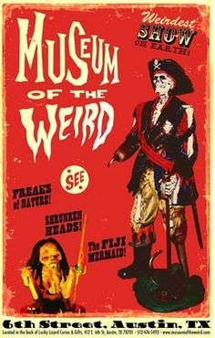 museum is actually at the back of Lucky Lizard Curios and Gifts on East Tour the back and see shrunken heads, mummies and other oddities. Clown Horror, Shrunken Head, Spooky Places, Evil Clowns, Horror Films, American Horror Story, Macabre, The Magicians, Vintage Art