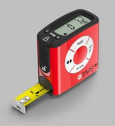 No more leaning and squinting to see the number on the tape measure. As the tape blade is pulled out, eTape16 displays the measurement in its digital window. It also has a dual memory to save measurements