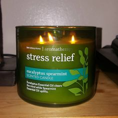 A scented candle to ~de-stress~.