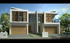Style Ideas - Garages - Sandringham New Duplex - JR home designs - Australia H Design, Facade Design, Roof Design, Architecture Design, Design Ideas, Modern Townhouse, Townhouse Designs, Duplex House Design, Modern House Design