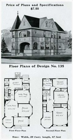 1000 images about vintage house plans 1900s on pinterest for Early 1900s house plans