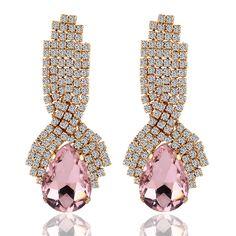Crystal and CZ Long Teardrop Earrings – Little Luxuries Designs