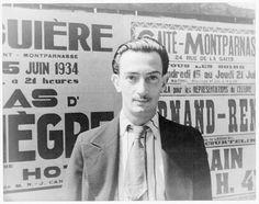 Portrait of Salvador Dali, Paris  Van Vechten, Carl, 1880-1964, photographer.