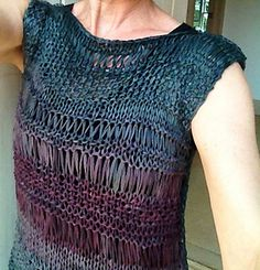 Hairpin lace top.
