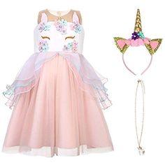 78d028a881d0a7 URAQT Mädchen Prinzessin ELSA Kleid Kostüm Eisprinzessin Set aus Diadem  Handschuhe Zauberstab #Spielzeug #Verkleiden