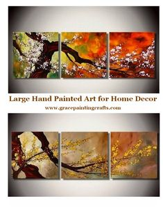 Extra large hand painted art paintings for home decoration. Living Room Canvas Painting, Acrylic Painting on Canvas, Bedroom Wall Art Paintings, Modern Contemporary Painting, Buy Paintings Online #painting #wallart #modernpainting #abstractpainting #canvaspainting #buyartonline #acrylicpainting #largepainting Multi Canvas Painting, Canvas Paintings For Sale, 3 Piece Canvas Art, Acrylic Painting Flowers, Abstract Canvas Art, Hand Painting Art, Large Painting, Painted Canvas, Flower Paintings