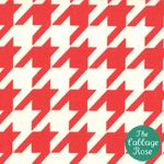 Items similar to Vintage Modern by Bonnie and Camille fabric for Moda, Houndstooth in Candy Yard on Etsy Candy Apple Red, Candy Apples, Motif Vintage, Vintage Modern, Vintage Embroidery, Cinnamon Bears, Amy Butler Fabric, Buy Fabric Online, Nursery Fabric
