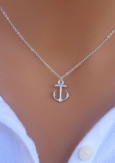 MEMORIAL DAY SALE My Anchor necklace in Sterling by RoyalGoldGifts