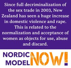 It's important to note that the Nordic model decriminalizes the prostituted, but punishes the buyers and the pimps. Youre Doing It Wrong, Patriarchy, Domestic Violence, Oppression, Change The World, Feminism, New Zealand, Memes, Porn