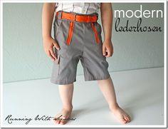 Tutorial boy short, kid cloth, vintage, modern cargo, babi cloth, kid stuff, scissor, modern lederhosen, sewing tutorials