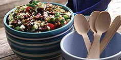 Recipe for Greek Lentil Salad. A make- ahead lentil salad that's perfect as a main dish on its own or as a fabulous side dish. Recipe from Canadian Lentils Lentil Salad Recipes, Veggie Recipes, Healthy Recipes, Gf Recipes, Greek Recipes, Healthy Foods, Recipies, Green Lentil Salad, Pulses Recipes