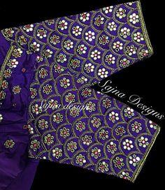 Sajna Bridal Wear Designer. Contact : 090948 71467. Wedding Saree Blouse Designs, Best Blouse Designs, Simple Blouse Designs, Dress Designs, Traditional Blouse Designs, Mirror Work Blouse Design, Kutch Work Designs, Hand Embroidery Designs, Aari Embroidery