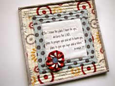 scripture mini quilt quilted mug rug by myfivelittlepeppers