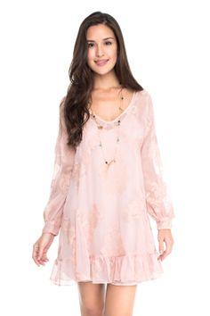 vestido bordado recortes manga - Vestidos | Dress to