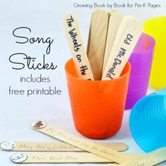 Song Sticks: Building Skills in Transitions - Pre-K Pages