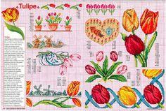 Gallery.ru / Фото #103 - Encyclopedie du point de croix ( Fleurs arbres et feuilles ) - tymannost Cross Stitch Borders, Cross Stitch Flowers, Counted Cross Stitch Patterns, Stitch 2, Le Point, Pattern Books, Doilies, Needlepoint, Projects To Try
