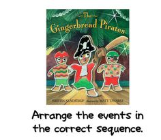 The Gingerbread Pirates sequencing activity