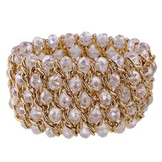e8072d382f Kaymen Jewelry Luxury Gold Plated Cross Chians and Crystal Stone Knit  Exaggerated Bangles Bracelets for Women - CA120S9V7ZV