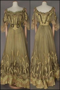 Vintage Gowns, Vintage Evening Gowns, Vintage Outfits, Beautiful Gowns, Beautiful Outfits, Victorian Evening Gown, Edwardian Fashion, Vintage Fashion, Old Dresses