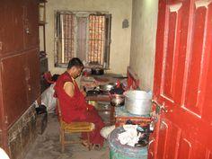 Private quarters of Buddhist monk, Katmandu, Nepal.