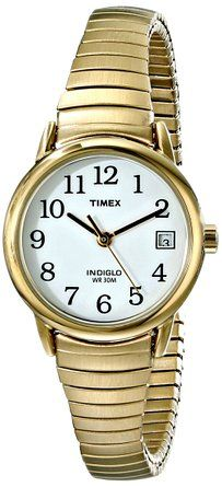• the world s catalogue of ideas timex women s t2h351 easy reader gold tone stainless steel expansion band watch timex