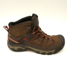 d24a94c817ad KEEN Mens Targhee Leather Mid Athletic Outdoor Hiking Trail Boots Size 10.5   KEEN  HikingTrail
