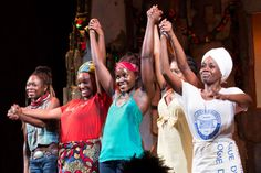 """Broadway Opening Night of """"Eclipsed"""" Curtain Call"""