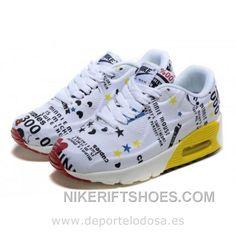 7c30dc7c1c2c1d Nike Air Max 90 Kids Zapatillas Blanco Amarillo 1002 (Nike Air Max 90  Deportivas) Discount S5pFt