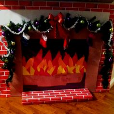 How to Make a Fake Fireplace Out of Paper | Fireplace | Pinterest ...