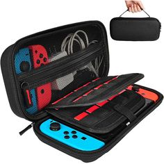 awesome Hestia Goods Carrying Case for Nintendo Switch with 20 Game Cartridges, Protective Hard Shell Travel Carrying Case Pouch for Nintendo Switch Console & Accessories, Black Nintendo 3ds, Videogames, Susanoo Naruto, Nintendo Switch Case, Nintendo Switch Accessories, Christmas Gifts For Girlfriend, Screen Protector, Carry On, Cool Things To Buy