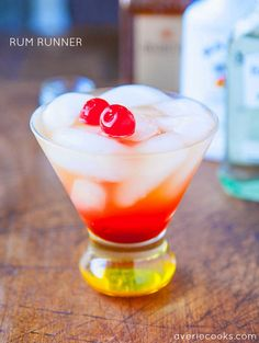 Rum Runner - Smooth, refreshing and after a few sips you'll feel like you're on a tropical vacation! They go down so easily! Great #CincoDeMayo cocktail!